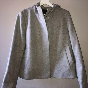 J. Crew  Melton Wool Gray Coat